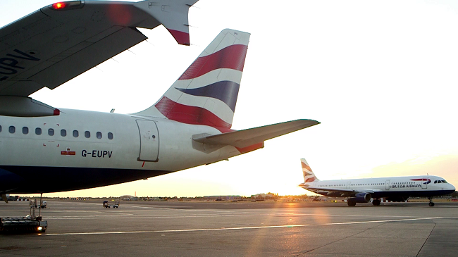 BA'S LAST FLIGHT FROM HEATHROW TERMINAL 1